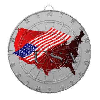 米国の腐敗+ amerik。 Flagge ダーツボード