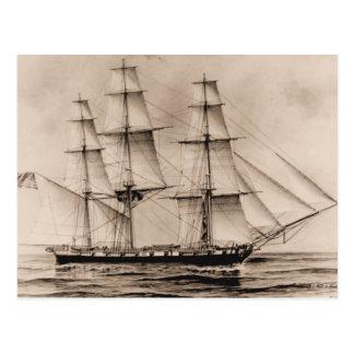 米国の船エリー1814年 ポストカード