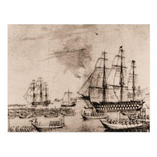 米国の船コロンブス1815年 ポストカード