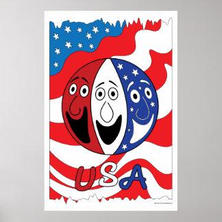 米国の芸術のプリント ポスター
