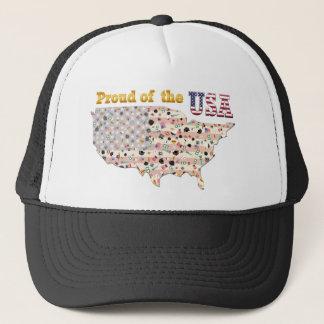 米国の誇りを持った キャップ