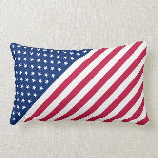 米国の赤く青い白のストライプの星の旗のLumbarの枕 ランバークッション
