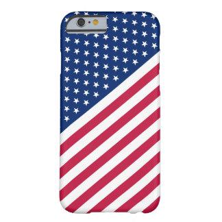 米国の赤く青い白のストライプは旗のiPhone6ケースを主演します Barely There iPhone 6 ケース