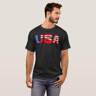米国の赤白青米国米国はTシャツに印を付けます Tシャツ