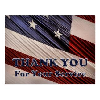 米国の軍の退役軍人の愛国心が強い旗は感謝していしています ポストカード