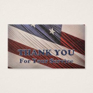 米国の軍の退役軍人の愛国心が強い旗は感謝していしています 名刺