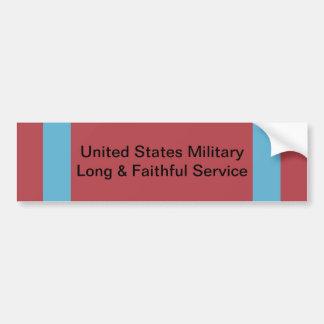 米国の軍の長く、誠実な仕事ぶりのリボン バンパーステッカー