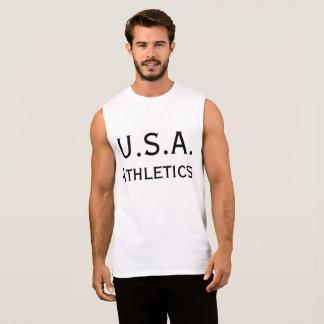 米国の運動競技 袖なしシャツ