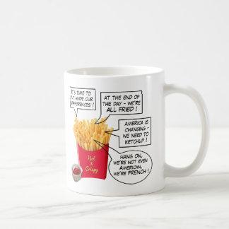 米国の選挙の余波-おもしろいなフライドポテトのマグ コーヒーマグカップ