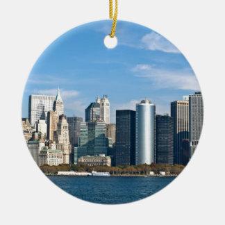 米国の都市景観: ニューヨークのスカイライン#1 セラミックオーナメント