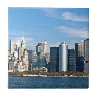 米国の都市景観: ニューヨークのスカイライン#1 正方形タイル小