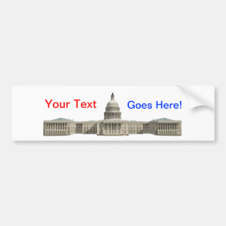 米国の重要な建物: Washington D.C. バンパーステッカー