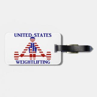 米国の重量挙げ- Powerlifting ラゲッジタグ
