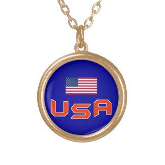 米国の金ゴールドの終わりのネックレス ゴールドプレートネックレス