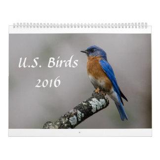 米国の鳥2016年 カレンダー