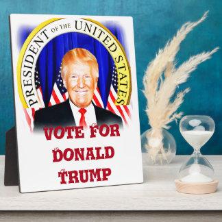 米国の_の大統領切札のためのドナルド フォトプラーク