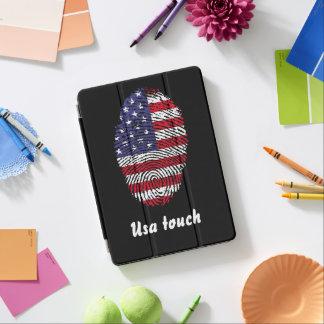 米国のtouchの指紋の旗 iPad air カバー