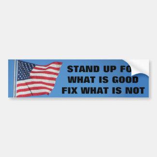 米国はよいものをのための立場に印を付けます バンパーステッカー
