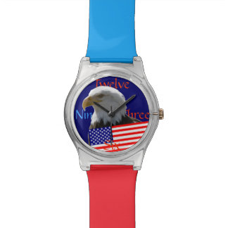 米国はアメリカのワシに印を付けます 腕時計