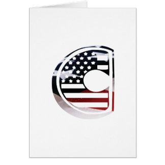 米国はアメリカ人の最初のモノグラムCに印を付けます カード