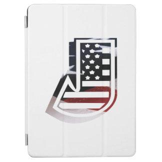 米国はアメリカ人の最初のモノグラムJに印を付けます iPad AIR カバー