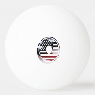 米国はアメリカ人の最初のモノグラムOに印を付けます 卓球ボール