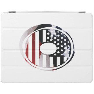 米国はアメリカ人の最初のモノグラムOに印を付けます iPadスマートカバー