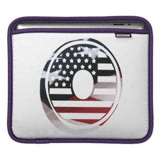 米国はアメリカ人の最初のモノグラムOに印を付けます iPadスリーブ