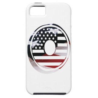 米国はアメリカ人の最初のモノグラムOに印を付けます iPhone SE/5/5s ケース