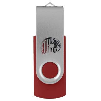 米国はアメリカ人の最初のモノグラムQに印を付けます USBフラッシュドライブ