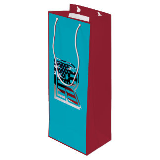 米国はアメリカ人の最初のモノグラムRに印を付けます ワインギフトバッグ
