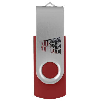 米国はアメリカ人の最初のモノグラムWに印を付けます USBフラッシュドライブ