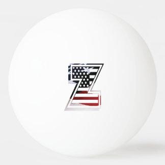 米国はアメリカ人の最初のモノグラムZに印を付けます 卓球ボール