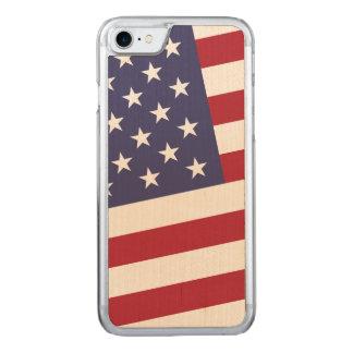 米国はクラシックな星条旗に印を付けます CARVED iPhone 8/7 ケース