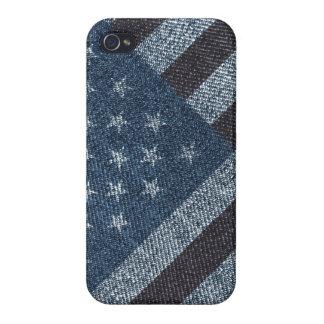 米国はデニムの質のデザインで印を付けます iPhone 4 CASE