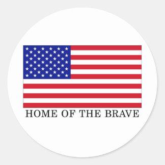米国は勇敢のの家へ帰ります ラウンドシール