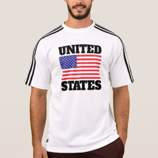 米国は印を付けます(黒い文字) Tシャツ