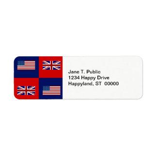 米国は及びイギリスの旗パターン印を付けます ラベル