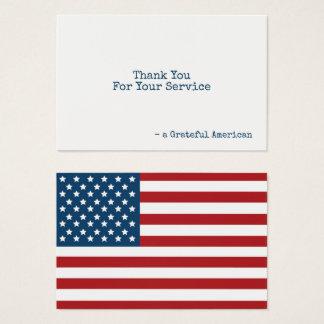 米国は愛国心が強いに感謝していしています印を付けます 名刺