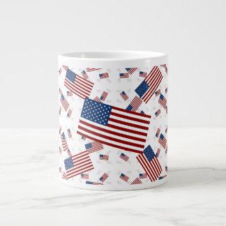 米国は斜めの層で印を付けます ジャンボコーヒーマグカップ