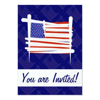 米国は旗にブラシをかけます カード