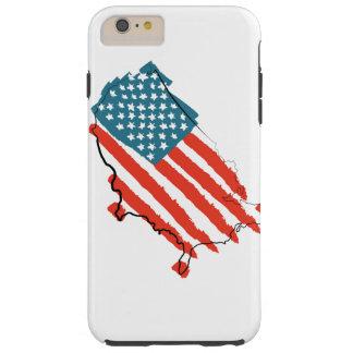 米国は旗の穹窖の堅いiPhone 6のプラスの場合の地図を描きます Tough iPhone 6 Plus ケース
