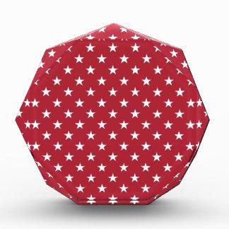 米国は旗の赤の白い星に印を付けます 表彰盾