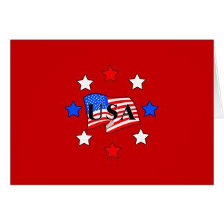 米国は星印を付け、 カード