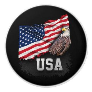 米国は白頭鷲と7月第4印を付けます セラミックノブ