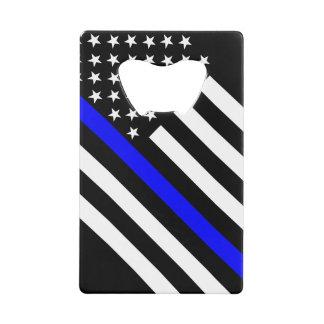 米国は白黒薄いブルーラインに印を付けます クレジットカード栓抜き