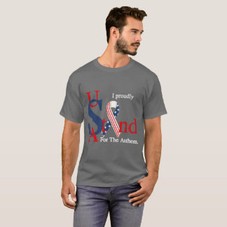 米国は祝歌の暗闇のティーを得意気に意味します Tシャツ