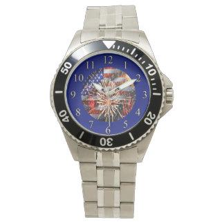米国は花火印を付け、 腕時計