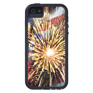 米国は花火印を付け、 iPhone SE/5/5s ケース