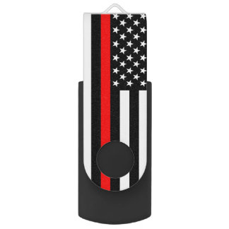 米国は薄い赤線テーマに印を付けます USBフラッシュドライブ